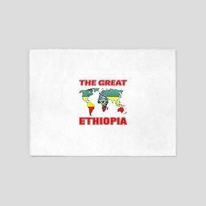 The Great Ethiopia Designs 5'x7'Area Rug