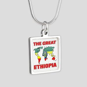 The Great Ethiopia Designs Silver Square Necklace