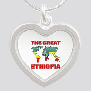 The Great Ethiopia Designs Silver Heart Necklace