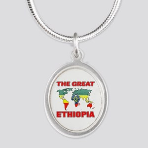 The Great Ethiopia Designs Silver Oval Necklace