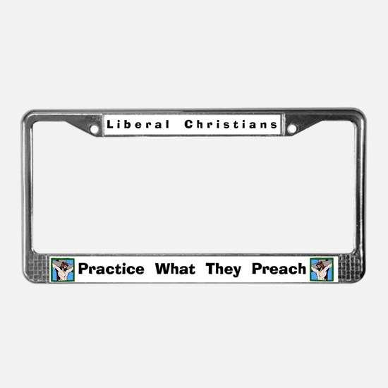 Liberal Christians #4 License Frame