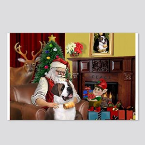 Santa's Saint Bernard Postcards (Package of 8)