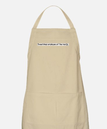 Sweatshop Employee Of The Month BBQ Apron
