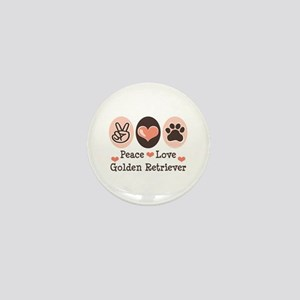 Peace Love Golden Retriever Mini Button