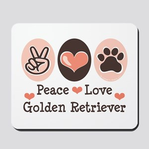 Peace Love Golden Retriever Mousepad