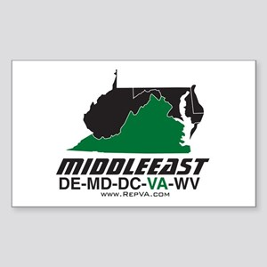Middle East Rectangle Sticker