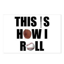 This Is How I Roll Baseball Postcards (Package of