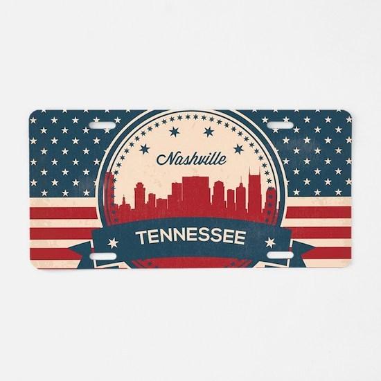 Unique Nashville Aluminum License Plate