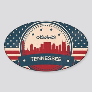 Retro Nashville Tennessee Skyline Sticker