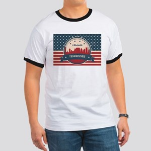 Retro Nashville Tennessee Skyline T-Shirt
