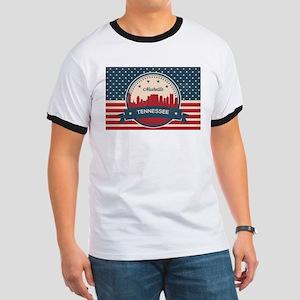Retro Nashville Tennessee Skyline T-Shirt