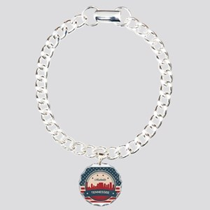 Retro Nashville Tennesse Charm Bracelet, One Charm