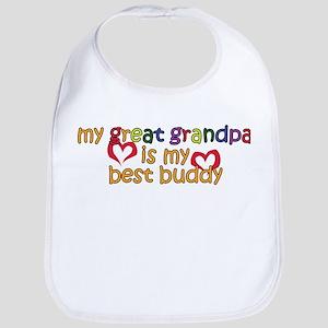Great Grandpa is My Best Buddy Bib