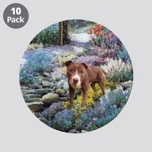 "Am. Staffordshire Terrier Art 3.5"" Button (10 pack"