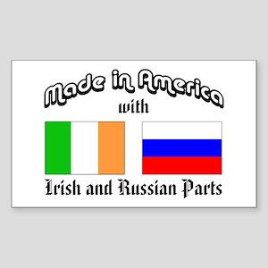 Irish-Russian Rectangle Sticker