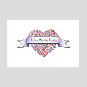 Love My Pole Vaulter Mini Poster Print
