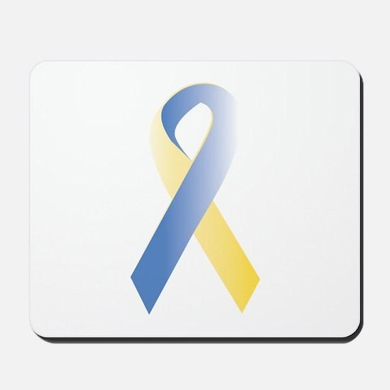 BlueYellow Ribbon Mousepad