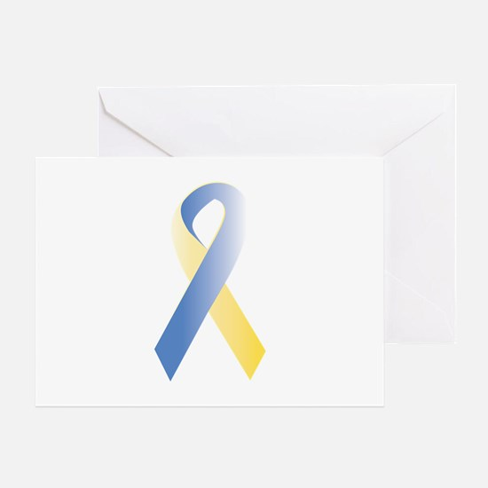BlueYellow Ribbon Greeting Card