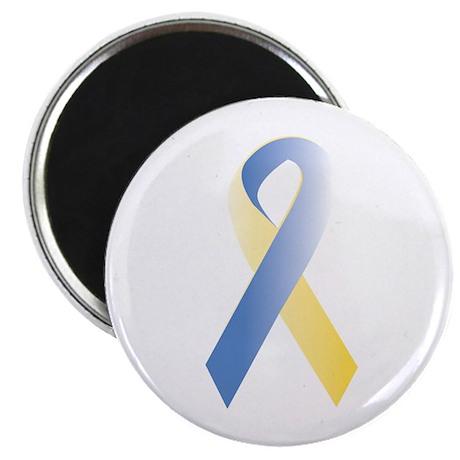 "BlueYellow Ribbon 2.25"" Magnet (10 pack)"