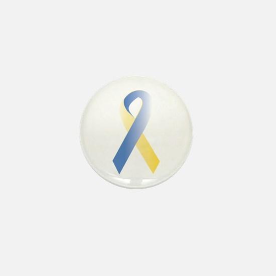 BlueYellow Ribbon Mini Button