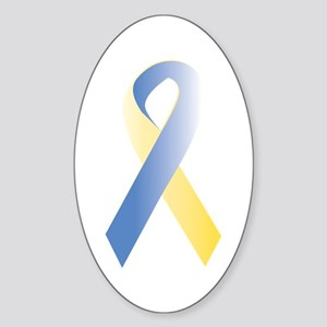 BlueYellow Ribbon Sticker (Oval)