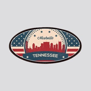 Retro Nashville Tennessee Skyline Patch