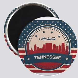 Retro Nashville Tennessee Skyline Magnets