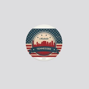 Retro Nashville Tennessee Skyline Mini Button