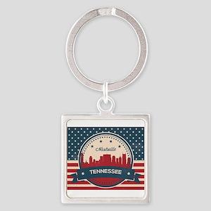 Retro Nashville Tennessee Skyline Keychains