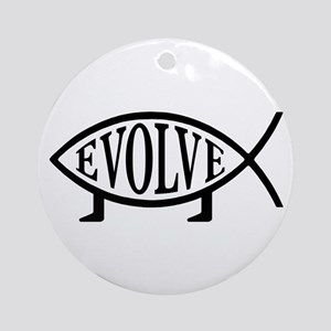 Evolution Fish Ornament (Round)
