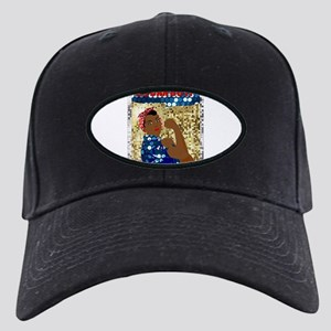 african rosie the riveter Black Cap with Patch