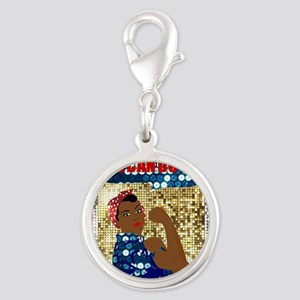 african rosie the riveter Charms