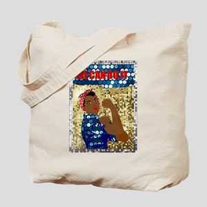 african rosie the riveter Tote Bag