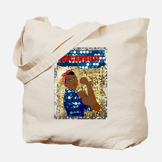 african rosie the riveter Tote Bag