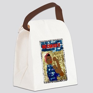 african rosie the riveter Canvas Lunch Bag