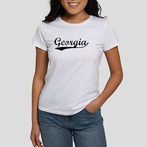 Vintage Georgia (Black) Women's T-Shirt