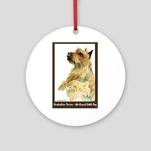 Red Australian Terrier Begging Ornament (Round)