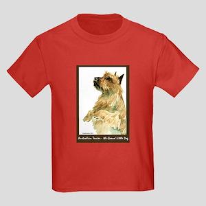Red Australian Terrier Begging Kids Dark T-Shirt