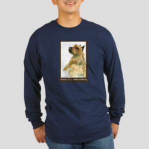Red Australian Terrier Begging Long Sleeve Dark T-