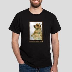 Red Australian Terrier Begging Dark T-Shirt