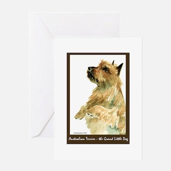 Red Australian Terrier Begging Greeting Card