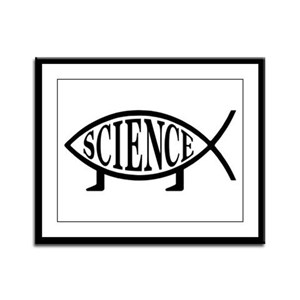 Science Fish Framed Panel Print