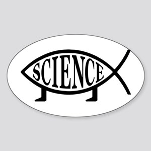 Science Fish Oval Sticker
