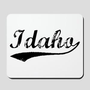 Vintage Idaho (Black) Mousepad