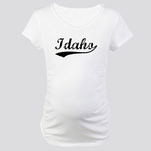 Vintage Idaho (Black) Maternity T-Shirt