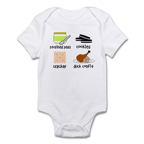 Snacks for Smart Babies Infant Bodysuit