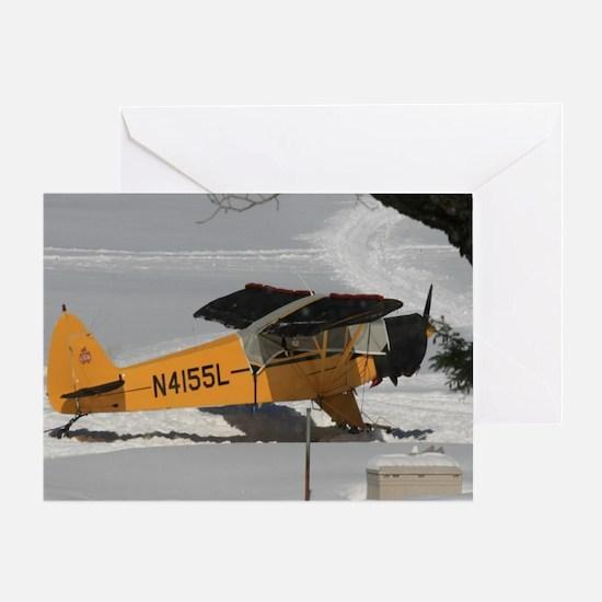 Seaplane In Winter Greeting Card