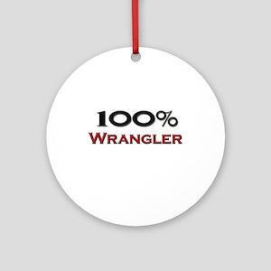 100 Percent Wrangler Ornament (Round)