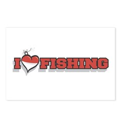 I Love Fishing Postcards (Package of 8)