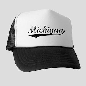 Vintage Michigan (Black) Trucker Hat